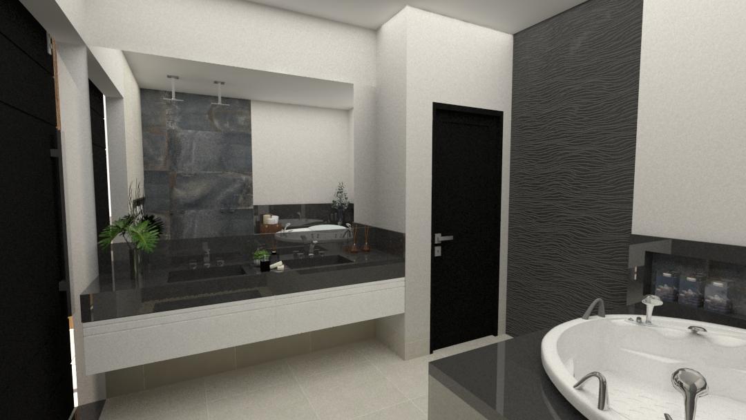 Projeto Ponto Final : banheiro master  para um casal moderno.