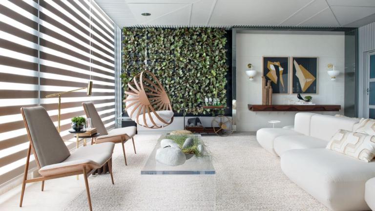 Inspiração: sala com iluminação natural  valoriza este ambiente.