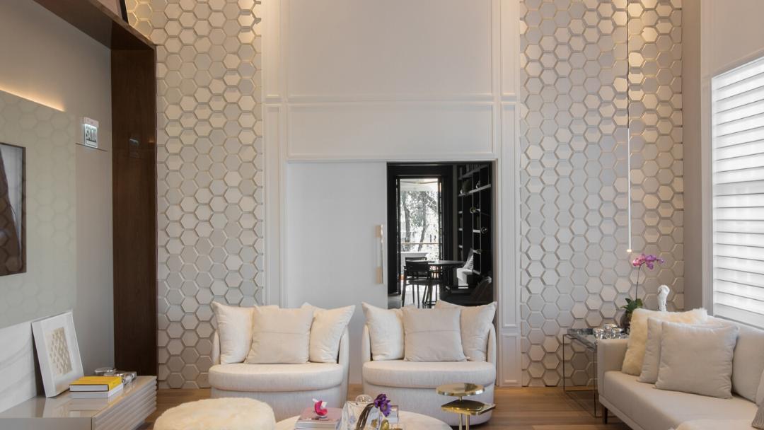 Opção em concreto: Polygon da Catelatto na cor Branco, 15x17,3cm